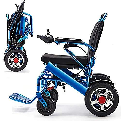 Jghjh Alluminio Leggero Pieghevole Sedia a rotelle elettrica Confortevole e...