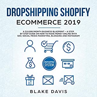 Dropshipping Shopify E-Commerce 2019 audiobook cover art