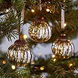 Paper High Adornos para árbol de Navidad (3 unidades, diseño vintage, pequeño tamaño, efecto...