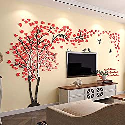 3d Couple Tree Wall Murals for Living Room