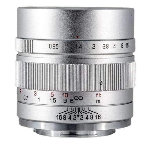 Zhongyi Mitakon Speedmaster 35 mm f/0, 95 Mark II Objektiv für Sony E spiegellose Kameras – Silber