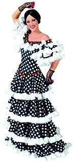 Toyland Tango Kostüm Gr. 40/42 Kleid schwarz/weiß gepunktet Spanierin Flamenco