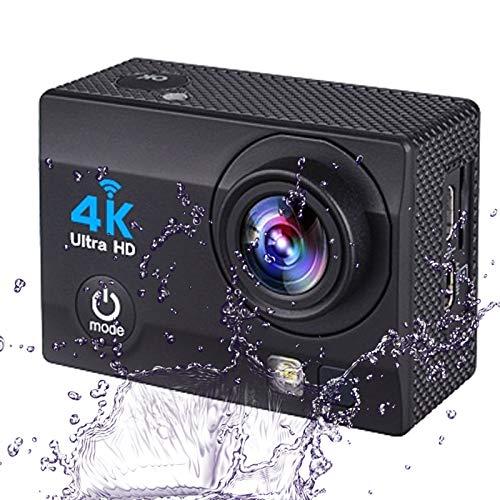 0℃ Outdoor Action Kamera Full HD 4K Action Cam 2.0 Zoll LCD Display 170 Grad Weitwinkel Fisheye Linse 30M Tiefe Wasserdicht Helmkamera Bildstabilisierung Vielseitig mit Zubehör Kits