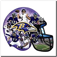 AOPIII (12x12 in) 5D Diamond Painting Full Drill DIY Diamond Embroidery Baltimore Ravens Rugby Player Cross Stitch Fully Round Mosaic Decoration Gift