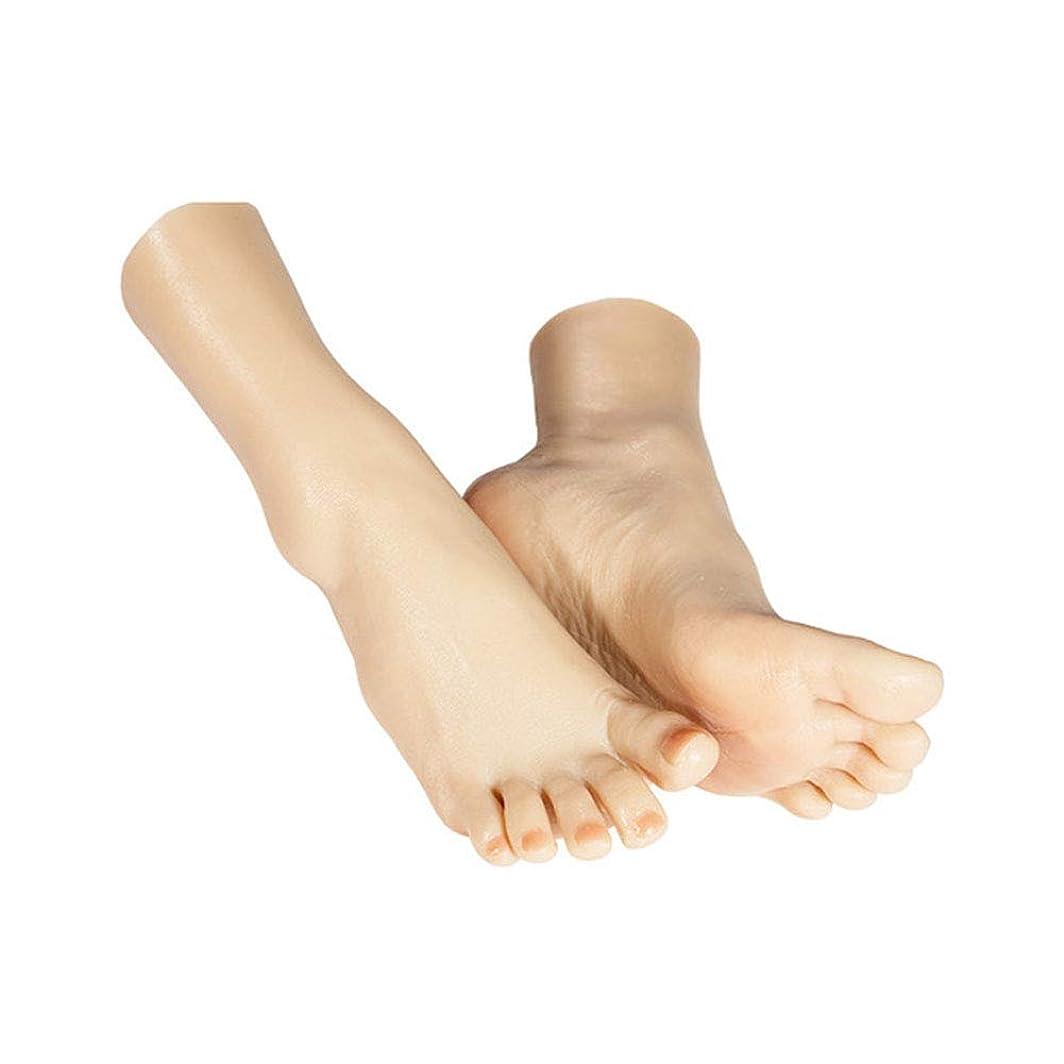 リラックスした混乱した養うネイルと骨ディスプレイジュエリーサンダル靴ソックス表示アートスケッチで1ペアシリコーンライフサイズ女性のマネキンの足,Fullgel