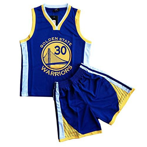 Daoseng Juego de camiseta y pantalones cortos de baloncesto para niños de 2 piezas #23, azul, S/Child Height 115-125CM