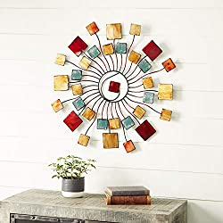 Deco 79 Multicolored Modern Metal Wall decoration