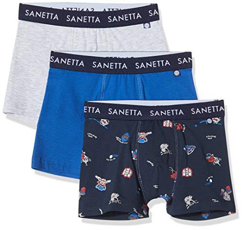 Sanetta Jungen 3er Pack Boxershorts, Grau (grau 1646), (Herstellergröße:128)