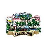 Salzburg Österreich 3D-Kühlschrankmagnet, Reise-Souvenir, Geschenk, Heim- und Küchendekoration, Magnetaufkleber, Österreich Salzburg Kühlschrankmagnet-Kollektion