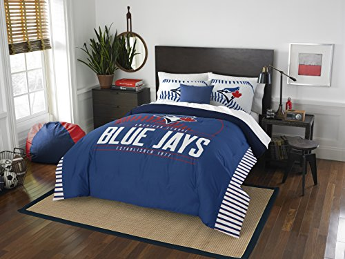 The Northwest Company Officially Licensed MLB Toronto Blue Jays Grandslam Full/Queen Comforter and 2 Sham Set, Multi Color