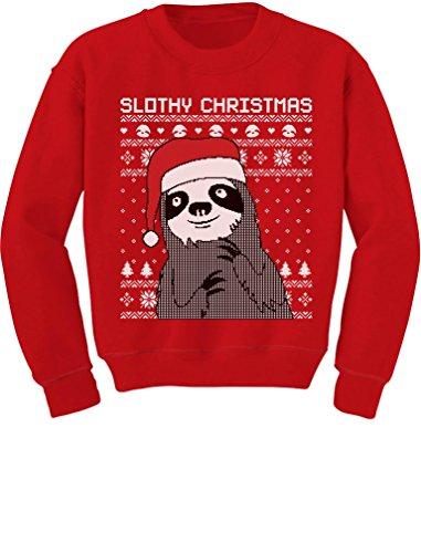 Slothy Christmas Ugly Christmas Sweater Sweatshirt TeeStars