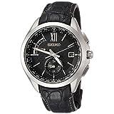 [セイコーウォッチ] 腕時計 ブライツ ソーラー電波 デュアルタイム チタンモデル SAGA251 メンズ ブラック