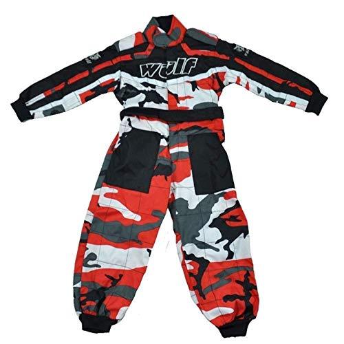 Wulfsport - Traje de una Pieza para niños, diseño de Camuflaje, Color Rojo, Camo Red, S (5-6 Años)