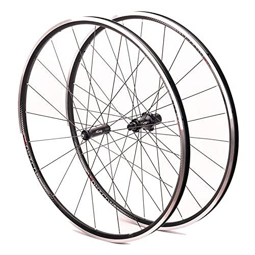 zyy Ruedas de Bicicleta de Carretera 700C 20.5MM Juego Liberación Rápida V- Freno de Freno Lanzamiento Rápido para Volante Cassette 8 9 10 11 Velocidades