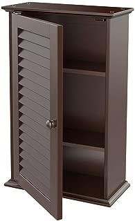 Cirocco Wall Mount Cabinet 3 Tier Storage Louvered Door Cupboard Organizer | Durable Sturdy Heavy Duty Height Adjustable Ergonomic Modern | for Washroom Laundry Room Mudroom Bathroom Medicine Tool