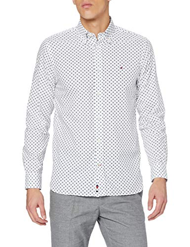 Tommy Hilfiger Herren Floral Geo Print Shirt Hemd, White, X-Large
