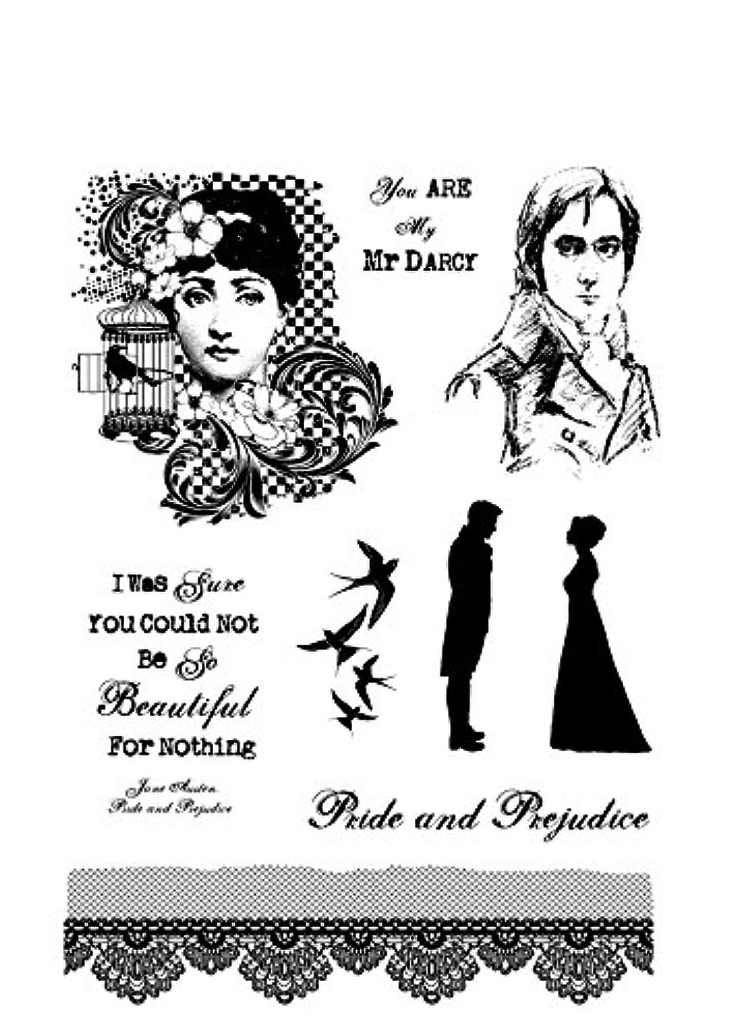 IndigoBlu MDMTD Cling Mounted Stamp, 9.25 by 6.25-Inch, Mr. Darcy