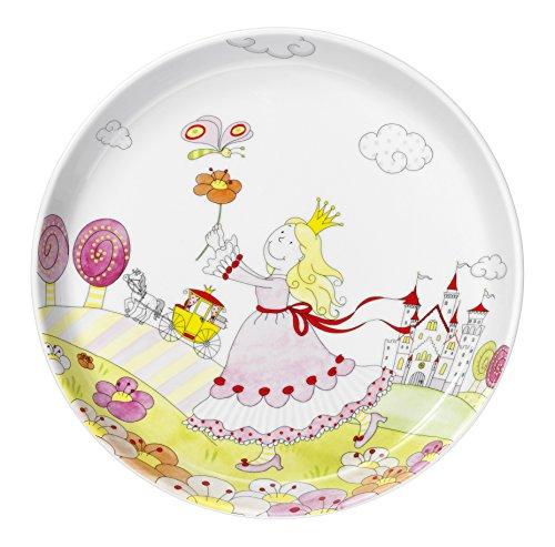 WMF Prinzessin Anneli Kindergeschirr Kinderteller, Ø 19,0 cm, Porzellan, spülmaschinengeeignet, farb- und lebensmittelecht