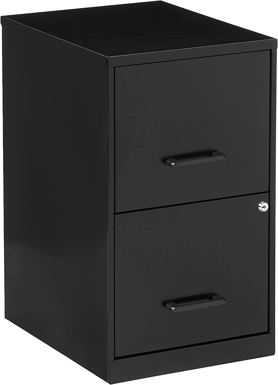 Lorell 14341 18 Deep 2-Drawer File Cabinet (Black/New)