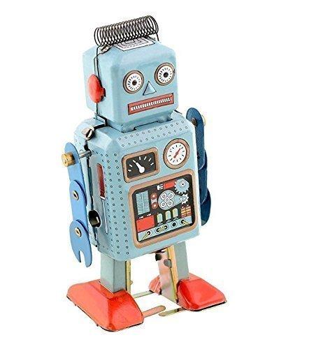 UChic 1 pièce Vintage Mouvement Mécanique Wind Up Jouet Randonnée Radar Robot Etain Jouet Rétro Vintage Cadeau Enfant Jouet avec Clé