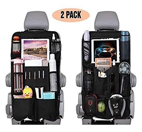 Seupeak Car Back Seat Organiser, Car Seat Protectors 2 Set Car Seat Organizer, 10 Clear Screen Tablet Holder and USB/Headph.