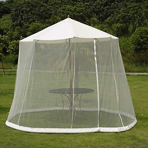 Outdoor Garden Umbrella Table Screen Parasol Mosquito Net Cover Bug Netting Cover,Gazebo Canopy Mosquito Netting,White,300x220cm