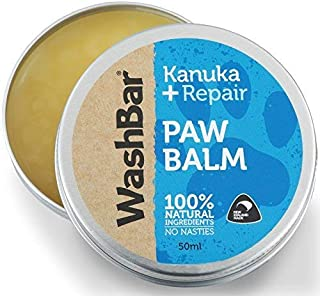 WashBar Dog Paw Balm, Dog Paw Protection, Dog Pad Moisturizer, Dog Nose Balm, Natural and Organic Ingredients, Care and Repair of Cracked Paws, Dry Skin and Damage