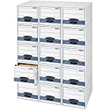 Bankers Box STOR/DRAWER STEEL PLUS Extra Space-Saving Filing Cabinet, Stacks up to 5 High, Letter, 6 Pack (00311)