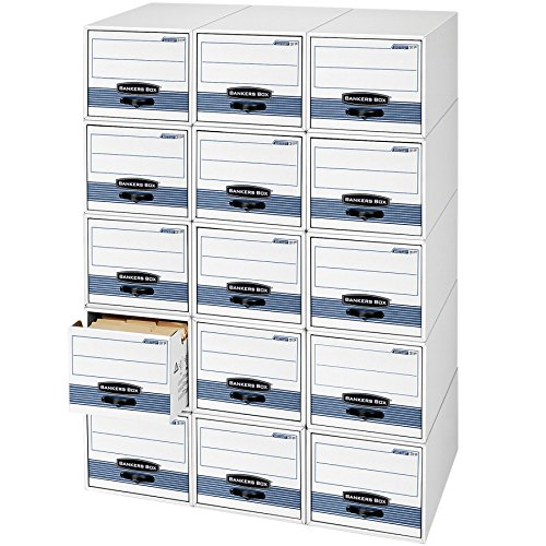 Bankers Box STOR/DRAWER STEEL PLUS Extra Space-Saving Filing Cabinet, Stacks up...