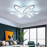 LED Ceiling Light, Modern Chandelier White Acrylic Lighting Geometric Design for Home Living Room Kitchen Bedroom Corridor(Non-dimmable)