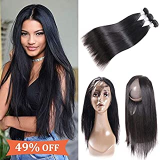 Best 360 lace frontal and bundles human hair Reviews