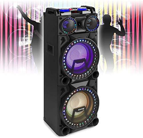 Fenton VS210 Bluetooth Disco Speaker Active Powered DJ Party Box with LED...