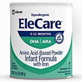 EleCare Hypoallergenic Formula, Complete Nutrition For Severe Food Allergies, Amino Acid-based Infant Formula