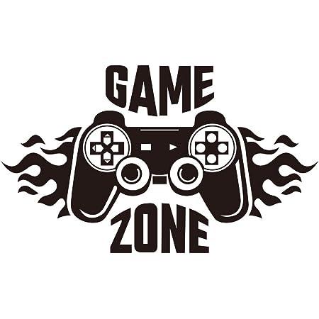 Calcomanías de pared de Game Zone, pegatinas de pared de control de jugador, decoración de vinilo extraíble para habitación de niños, hogar, sala de juegos (27.3 x 16 pulgadas)