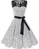 Bbonlinedress Vintage rétro 1950's Audrey Hepburn Robe de Soirée Cocktail sans Manches avec...