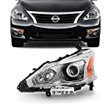 For 13-15 Altima 4 Doors Sedan Halogen Type Headlight Front Lamps Driver Left Side Direct Replacement