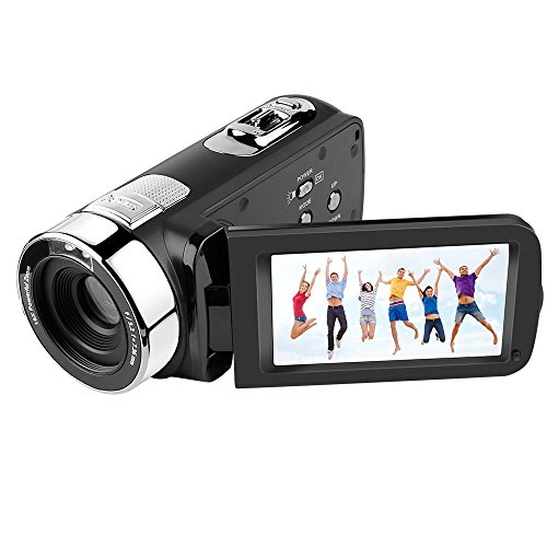 Camera Camcorder,301str 3'' Night Vision Camcorders 5MP FHD Video Recorder With HDMI Output Remote Control 16X Digital Zoom 270 Degree Rotation Screen For Home entertainment Outdoor activities