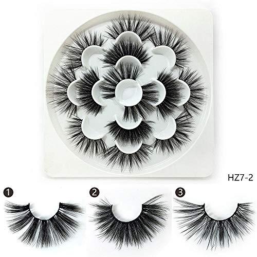 3D faux cils naturel long style vison cils Wispies faux cils, 7 paires-HZ7-2