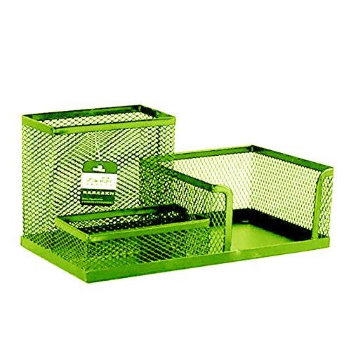 Amandaz Office Mesh Desk Tidy Organiser Set - Versatile Desktop Tidy Stationery Holder and 3 Grid Chest Storage Container