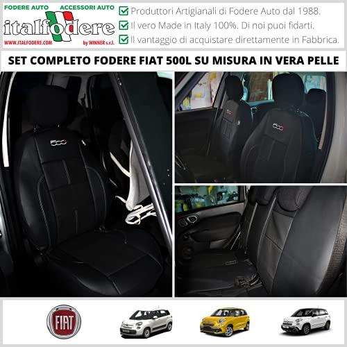 FODERE COPRISEDILI Vera Pelle Compatibili con FIAT 500L SU MISURA! FODERINE COMPLETE Tappezzeria Coprisedili