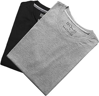 (8 Pack) Santhome Bio180 Men's 180gsm 8 pcs Wholesale/Bulk/Pack Cotton T-Shirts Short Sleeve Crew Neck