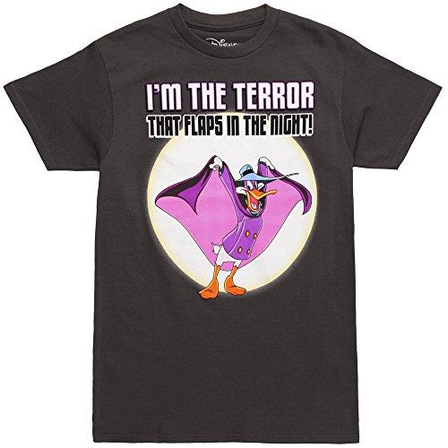 Darkwing Duck I'm The Terror T-Shirt für Erwachsene -  Schwarz -  X-Groß