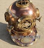 NauticalMart Antique Full Copper & Brass Diving Helmet Divers Helmet Us Navy Mark V