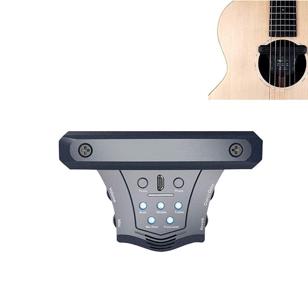YUSDP Pastilla de Guitarra acústica, Soundhole Magnetic ...