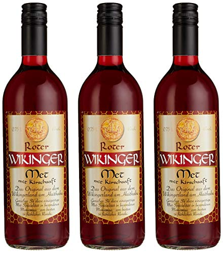 Produktbild Roter Wikinger Met Honigwein mit Kirschsaft ( 3 x 0.75 l)