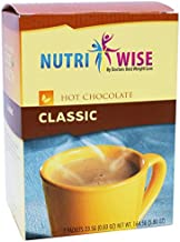 NutriWise - Classic Hot Chocolate   Healthy Diet Drink   High Protein, Low Carb, Low Calorie, Trans Fat Free, Cholesterol Free (7/Box)