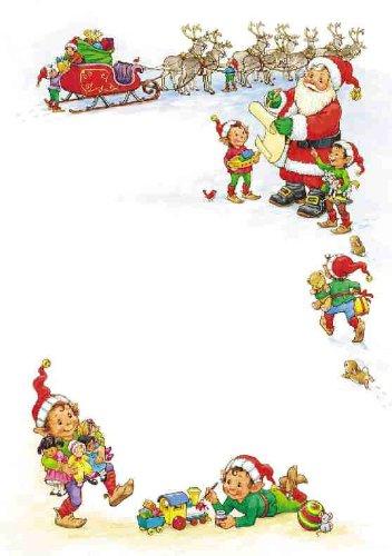 100 x A4 Petits Établissements de Noël Papier – \