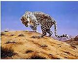Pinturas Oleo Pinturas para Lienzo Leopardo Vigilante DIY Regalos Pinturas con Numeros para Adultos Kits Manualidades 40X50Cm