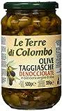 Le Terre di Colombo - Aceitunas Taggiasca sin hueso en aceite de oliva virgen extra (36%), 500 g