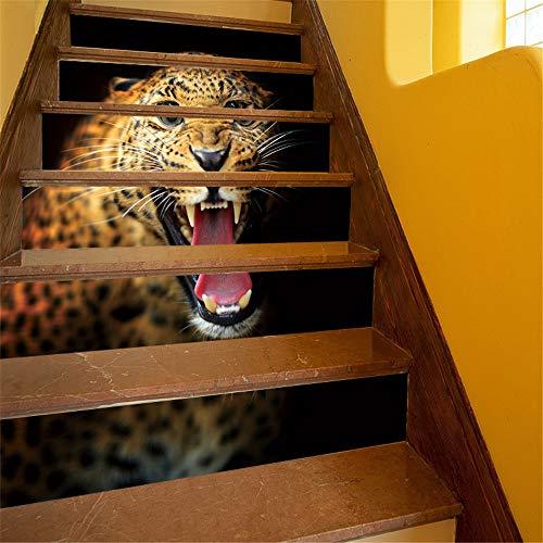 Pegatinas autoadhesivas para escaleras Calcomanías de arte de vinilo decoración for el hogar diy salón dormitorio cocina decoración PVC impermeable escalera calcomanía murales Etiquetas engomadas de l